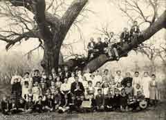 Antique picture of a large family; Actual size=240 pixels wide